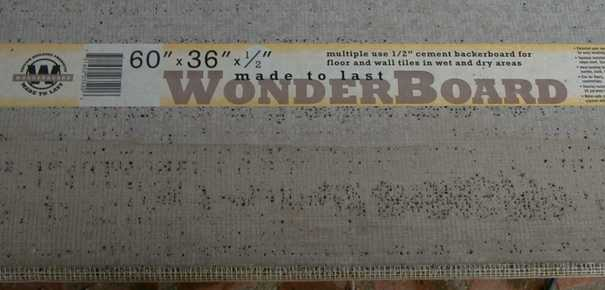 WonderBoard Tips - Cement based backer board